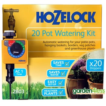 Image of Hozelock 20 Pot Automatic Watering Kit with AC1 Timer