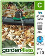 Small Image of Hozelock Micro Irrigation Adjustable Dripper - 2787