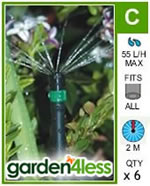Small Image of Hozelock Micro Irrigation 360 Degree Microjet - 2792