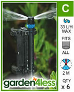 Small Image of Hozelock Micro Irrigation Strip Microjet - 2796