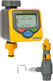 Image of Hozelock AC Pro Control Water Timer with <strong>RAIN SENSOR</strong>