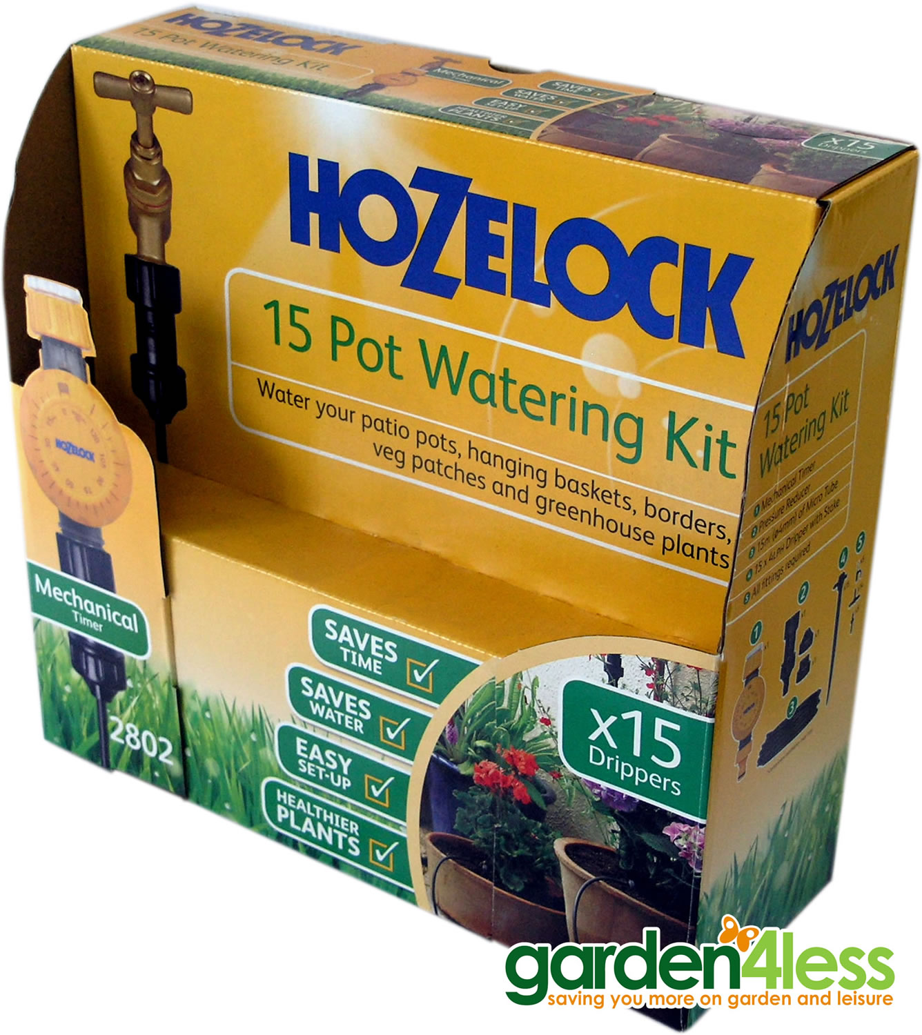 Extra image of Hozelock 15 Pot Watering Kit with Mechanical Timer