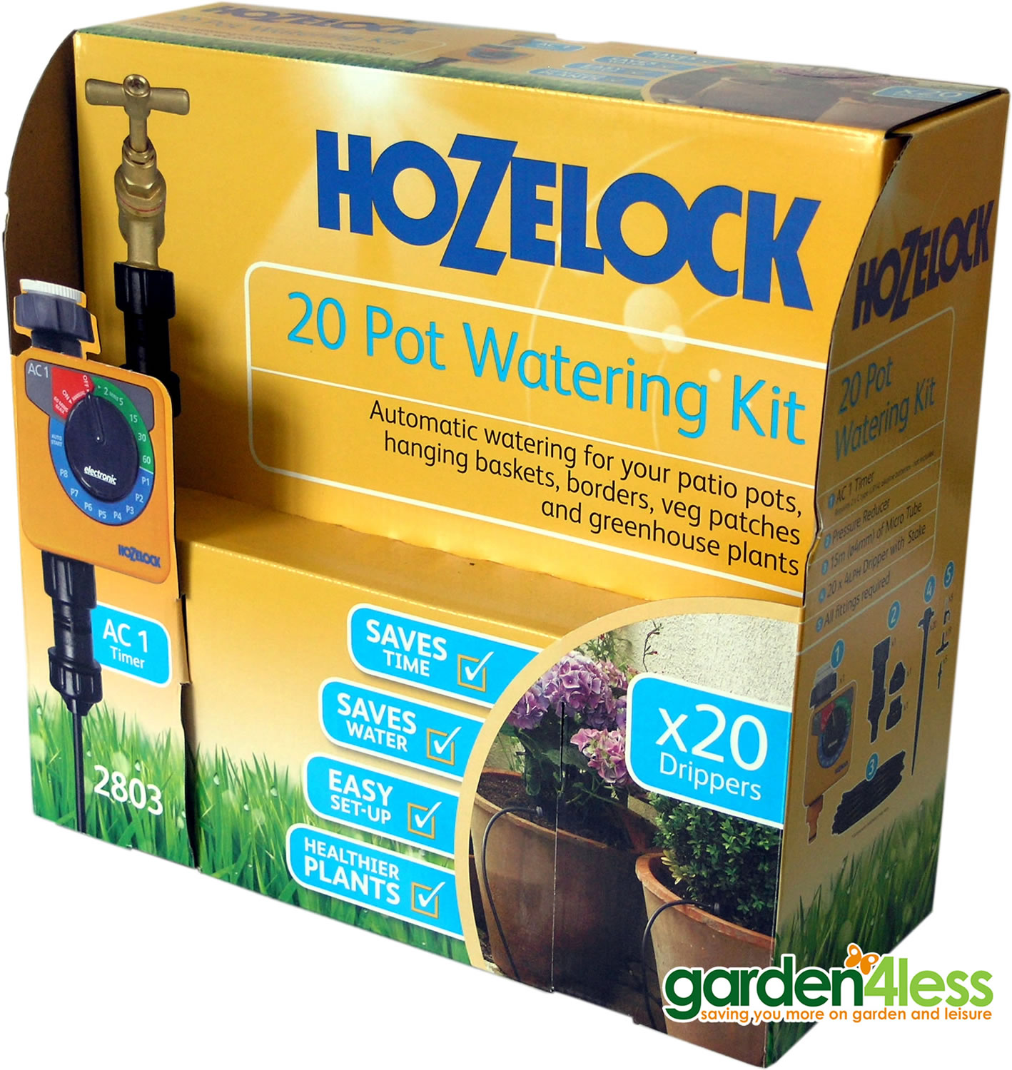 Extra image of Hozelock 20 Pot Automatic Watering Kit with AC1 Timer