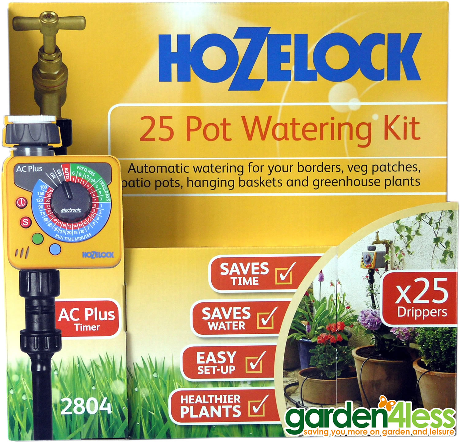 Hozelock 25 Pot Automatic Watering Kit With Sensor Plus