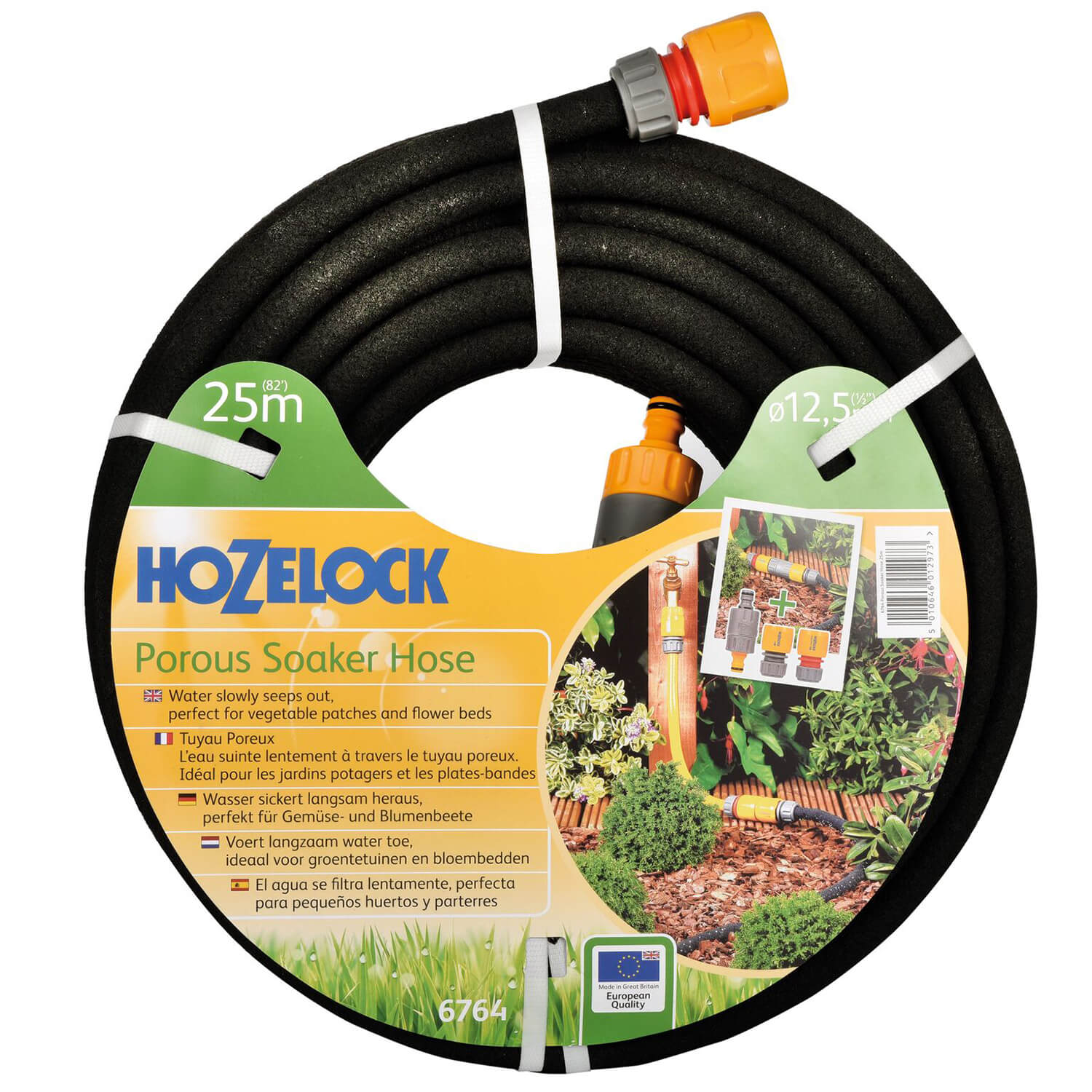 Greenkey 20M Soaker Hose Pipe Garden Irrigation Watering Porous with Fittings