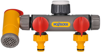 Image of Hozelock Flowmax 2 Way Tap Connector