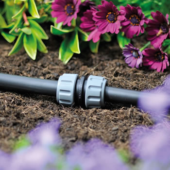 Image of Hozelock Micro Irrigation 13mm Straight Connector - Pack of 2