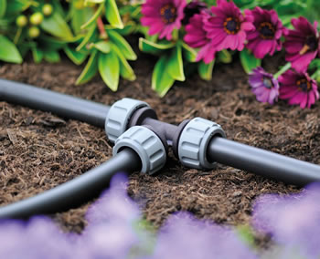 Image of Hozelock Micro Irrigation 13mm T Piece - Pack of 2