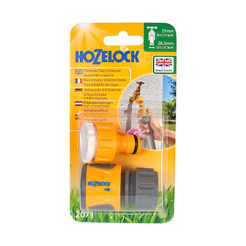 Image of Hozelock Threaded Tap Connector & Soft Touch Hose End Connector