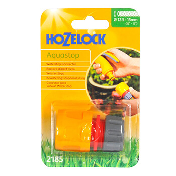 Image of Hozelock Hose End Aqua Stop Connector