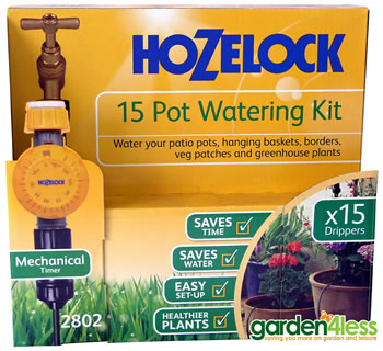Image of Hozelock 15 Pot Watering Kit with Mechanical Timer