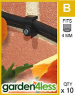 Small Image of Hozelock Micro Irrigation Wall Clip (4mm) - 2782