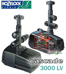 Hozelock cascade 3000 lv pump low voltage 3080 94 for Hozelock pond pumps
