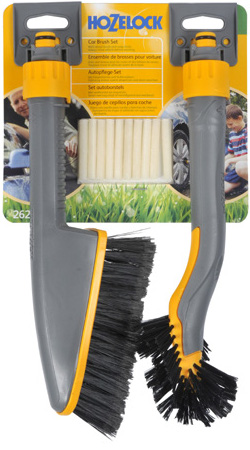 Image of Hozelock Short Car Brush and Wheel Brush Twin Pack - 2624