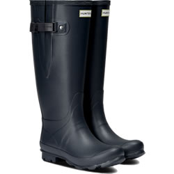 Small Image of Hunter Women's Norris Wide Fit Boot - Navy - UK 5