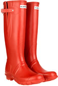 Genuine Red Adjustable Hunter Wellies (Original) - With Free Hotties