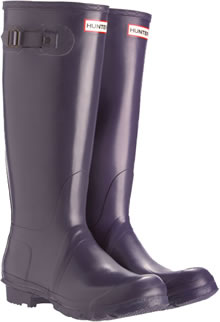 Genuine Aubergine Hunter Wellies (Original)