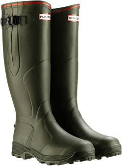 Image of Hunter Balmoral Bamboo Carbon Wellies Olive - UK Size 3