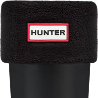 Hunter Fleece Welly Sock - Black