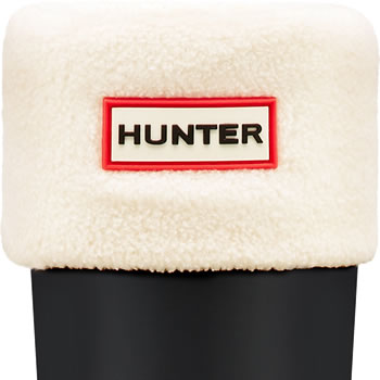 Image of Hunter Fleece Welly Sock - Cream