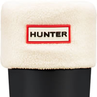 Small Image of Hunter Fleece Welly Sock - Cream