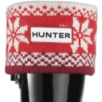 Kids Hunter Welly Socks - Fair Isle Red