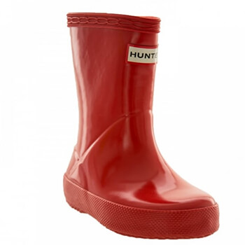 Image of Kids First Gloss Hunter Wellies - Military Red UK 10