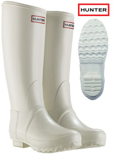 Hunter Regent Wellies in White