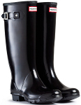 Huntress Gloss Wellies in Black - With Free Hotties