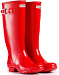 Huntress Gloss Wellies in Pillar Box Red - With Free Hotties