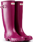Huntress Gloss Wellies in Violet - With Free Hotties