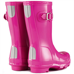 Extra image of Original Gloss Lipstick Pink Kids Hunter Wellies - UK Size 8 / Euro 25