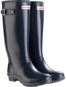 Image of Wide Calf Navy Huntress Wellies