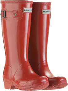 Image of Kids Red Hunter Wellies - UK Size 9