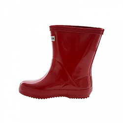Extra image of Kids First Gloss Hunter Wellies - Military Red UK 13
