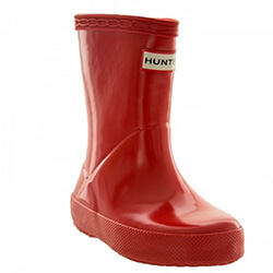 Small Image of Kids First Gloss Hunter Wellies - Military Red UK 13