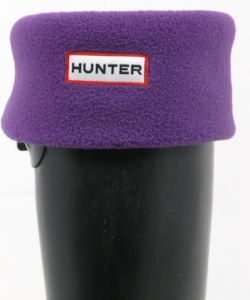 Image of Hunter Fleece Welly Sock - Aubergine