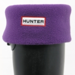 Hunter Fleece Welly Sock - Aubergine