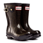 Kids Hunter Glitter Wellies - Black