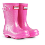 Kids Hunter Glitter Wellies - Fuchsia
