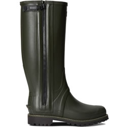 Extra image of Mens Hunter Balmoral Full Zip Wellies - Dark Olive - UK 12