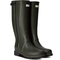 Small Image of Mens Hunter Balmoral Full Zip Wellies - Dark Olive - UK 12
