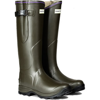 Image of Womens Hunter Balmoral Lady Neoprene Wellington Boots - Dark Olive