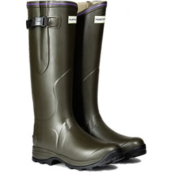 Small Image of Womens Hunter Balmoral Lady Neoprene Wellington Boots - Dark Olive