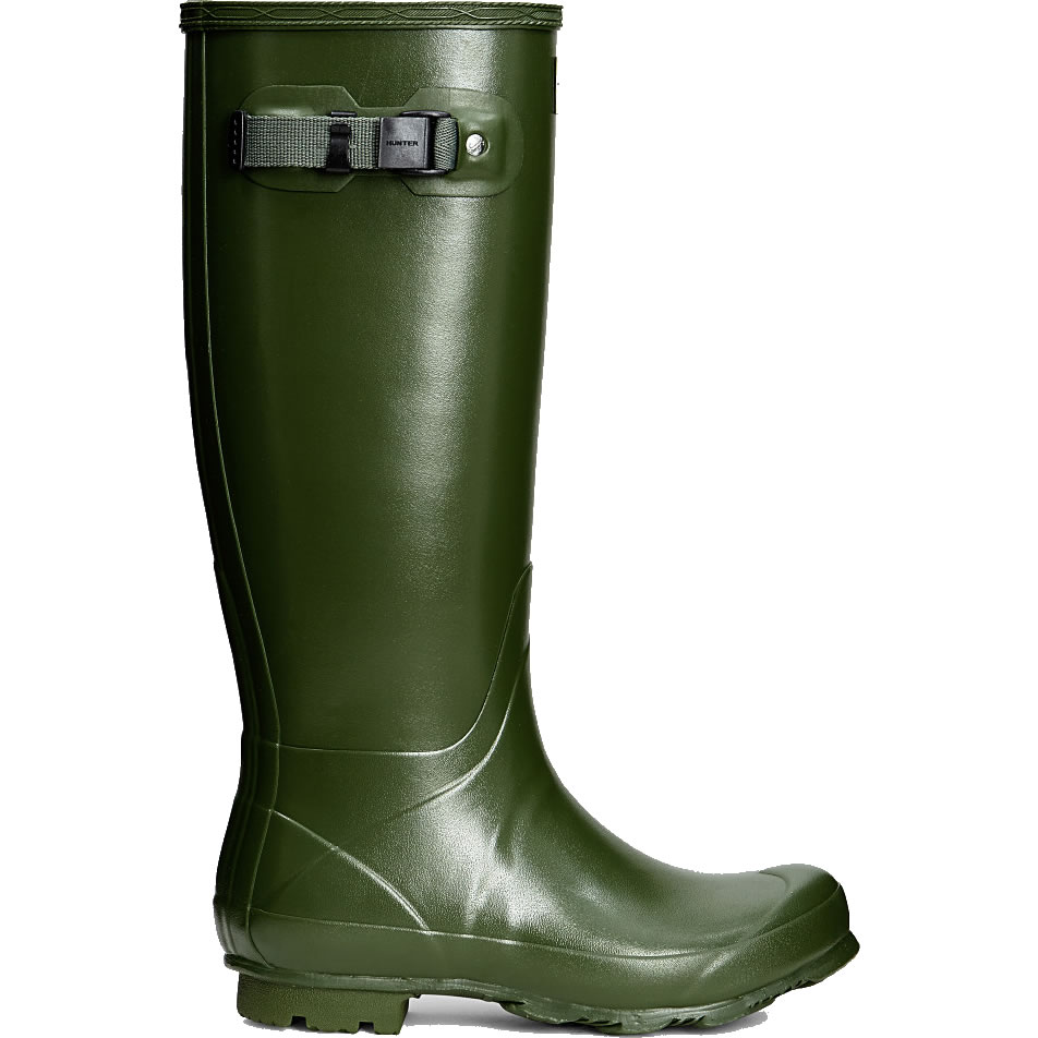 Extra image of Womens Hunter Norris Field Wellington Boots - Vintage Green - UK 7