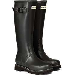 Small Image of Womens Hunter Field Balmoral Wellington Boots - Slate