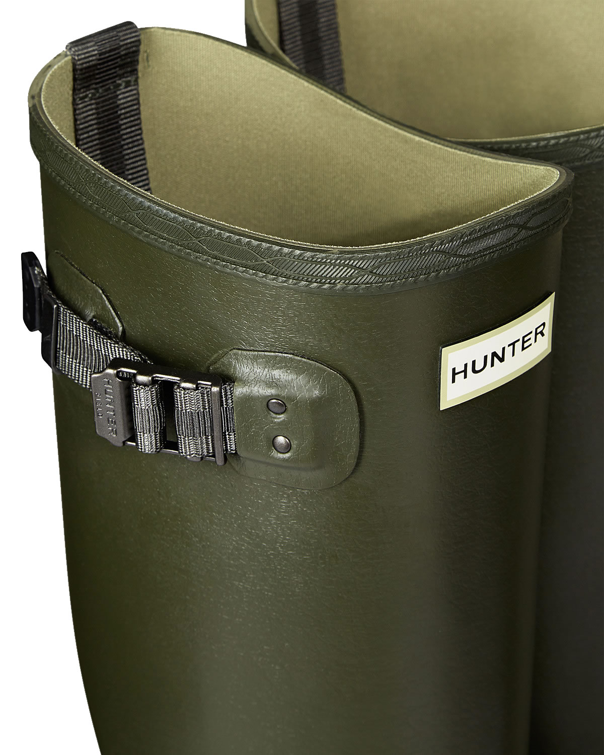 Extra image of Hunter Balmoral Field Wellington Boots - Dark Olive UK 11