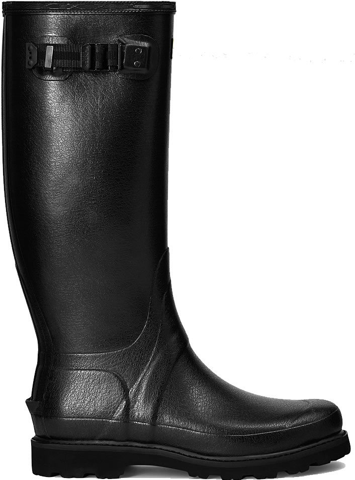 Extra image of Hunter Balmoral Field Wellington Boots - Black - UK 7