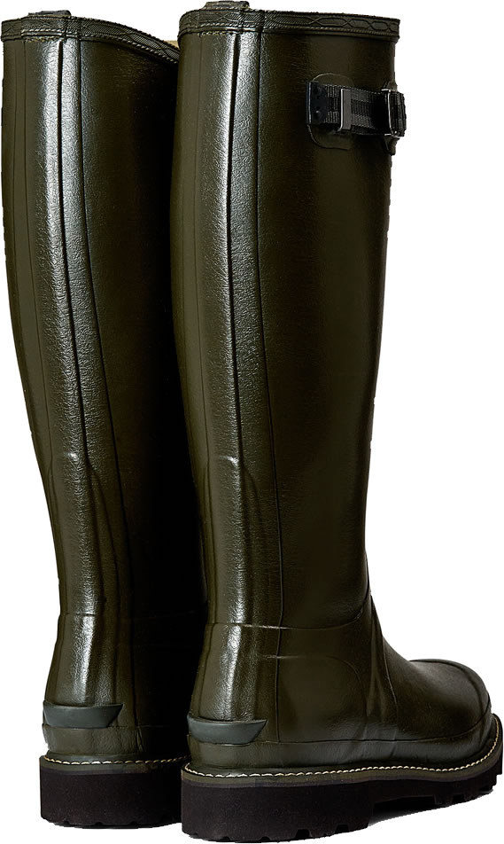 Extra image of Womens Hunter Balmoral Wellington Boots - Dark Olive UK 6