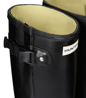 Extra image of Men's Hunter Norris Field Adjustable Neoprene Wellington Boots in Black - UK 6